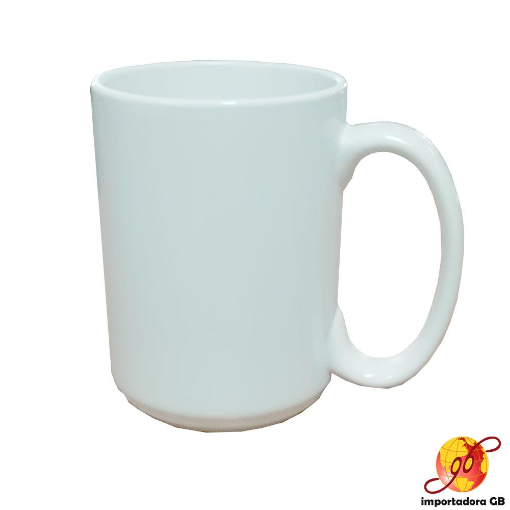 Jarro 15 onzas cerámica blanco