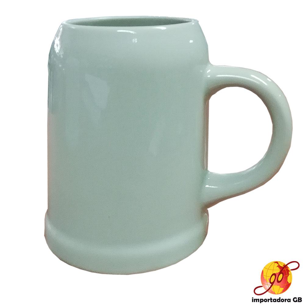 Jarro cervecero 3/10 litro color beige de cerámica
