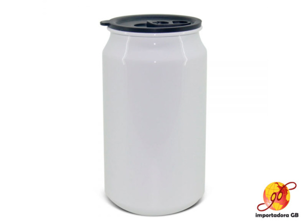 Lata de aluminio en Balnco y Silver 350 ml