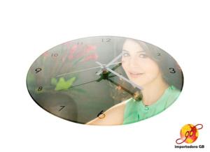Reloj de Vidrio templado para Sublimar