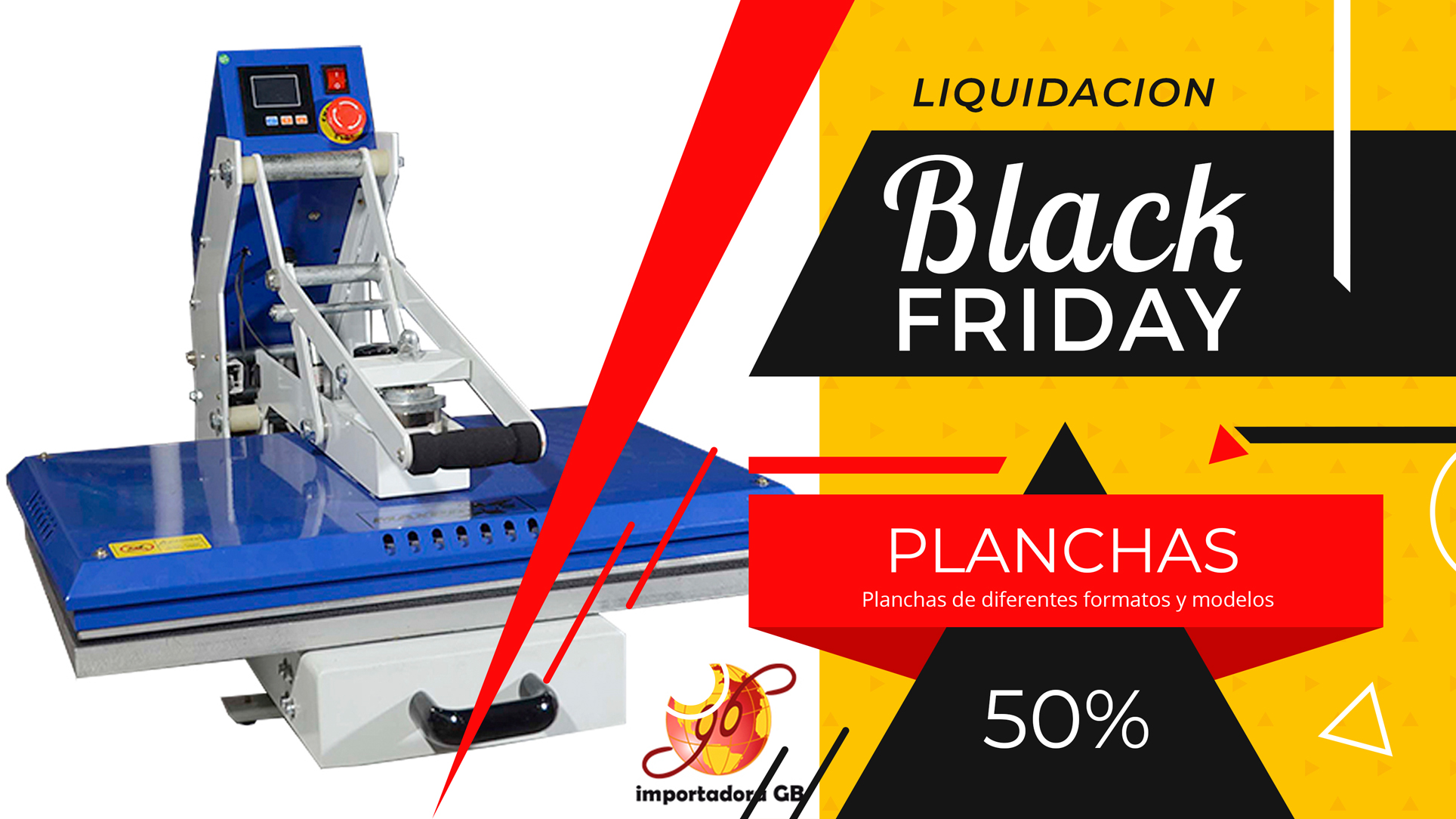 Banner planchas sublimacion Black friday