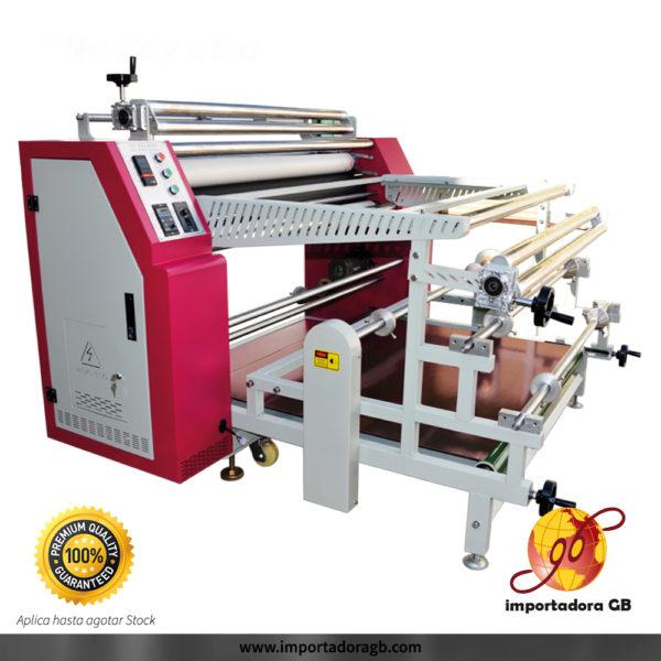 Calandra textil industrial de sublimación y planchado