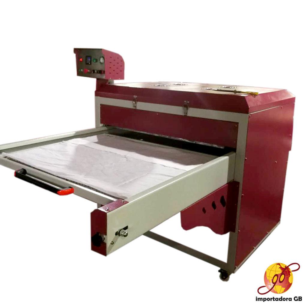 Máquina Estampadora Sublimadora plana neumática doble estación